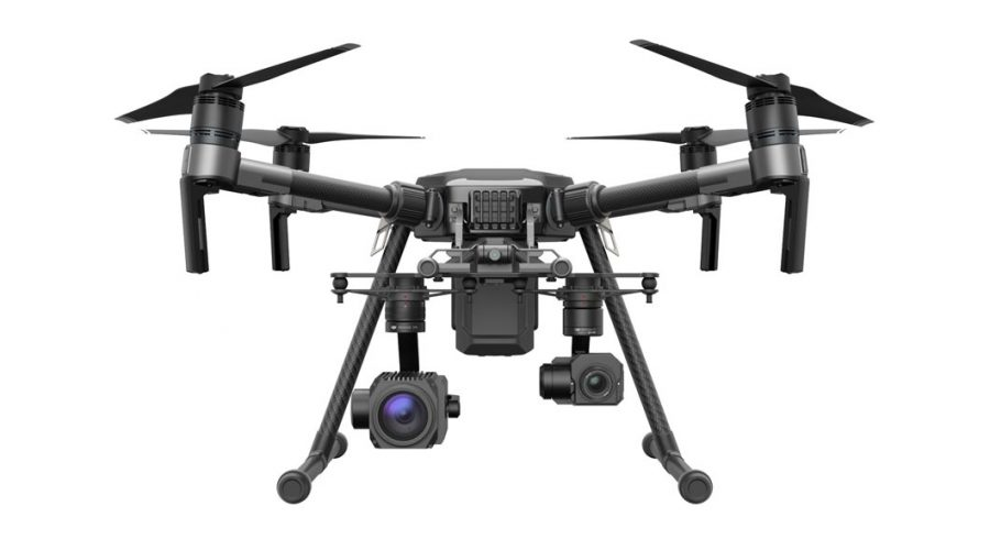 Video DJI MATRICE 210 para inspección industrial con 2 cámaras