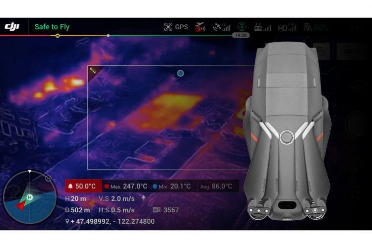 Mavic 2 con cámara termográfica