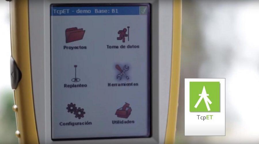 Video TCP ET. Software de toma de datos y replanteo TCP ET de Aplitop