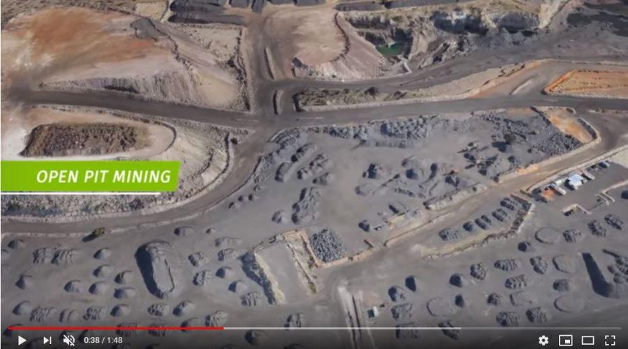 Video Topografía con drones en minería
