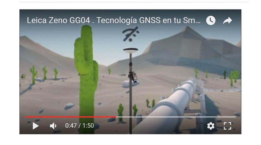 Video Antena GNSS Leica Zeno GG04